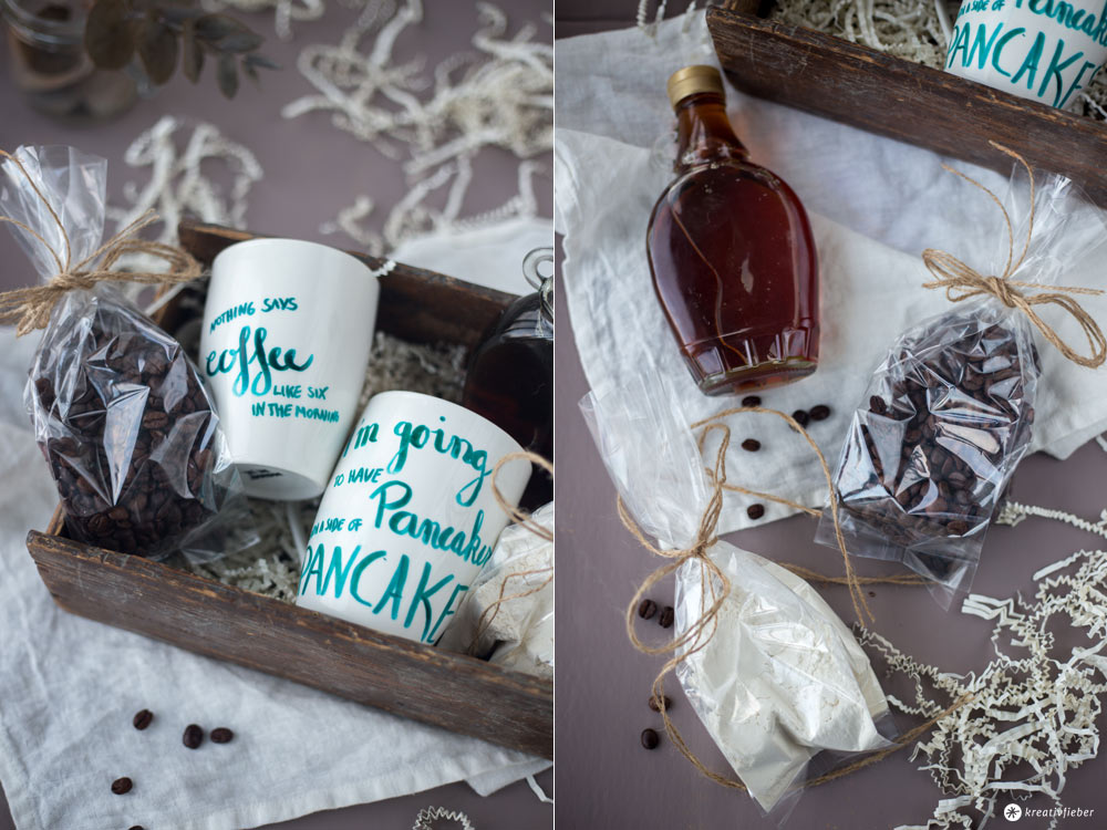DIY Gilmore Girls Geschenkset mit Handlettering Tassen - Geschenkideen für Serienfans - Gilmore Girls Frühstückskorb - Kreativfieber