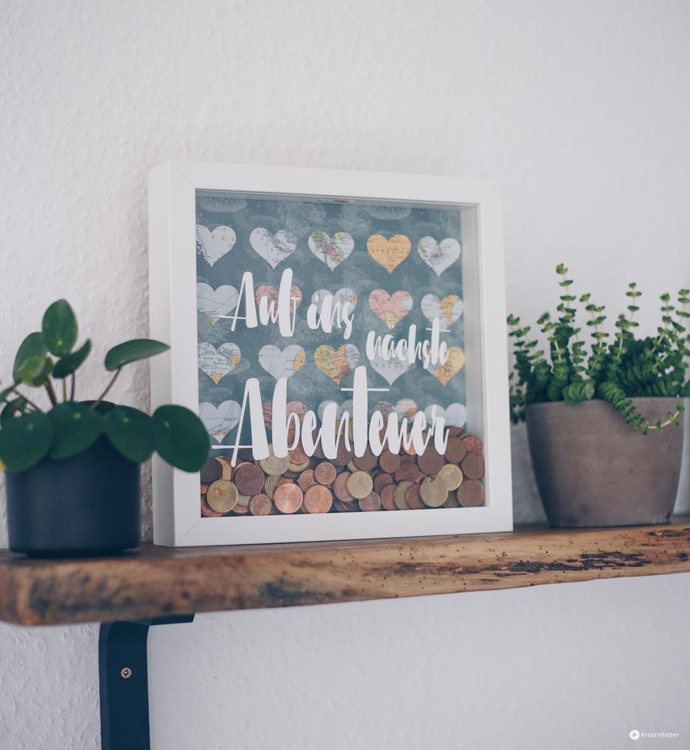 DIY Hochzeitsgeldgeschenk im Ribba Rahmen von Ikea selbermachen - DIY IKEA Hack - Geschenkidee zur Hochzeit