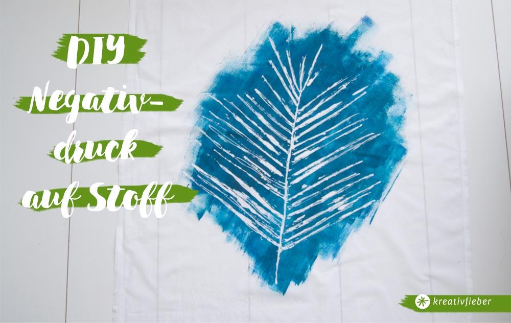 DIY Farbblockieren Negativdruck auf Stoff