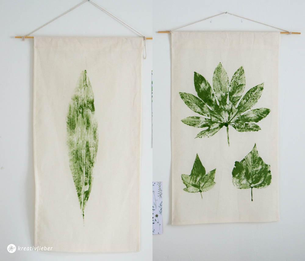 Blätter auf Stoff Drucken Tutorial