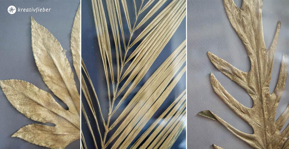 Details goldene Blätter DIY