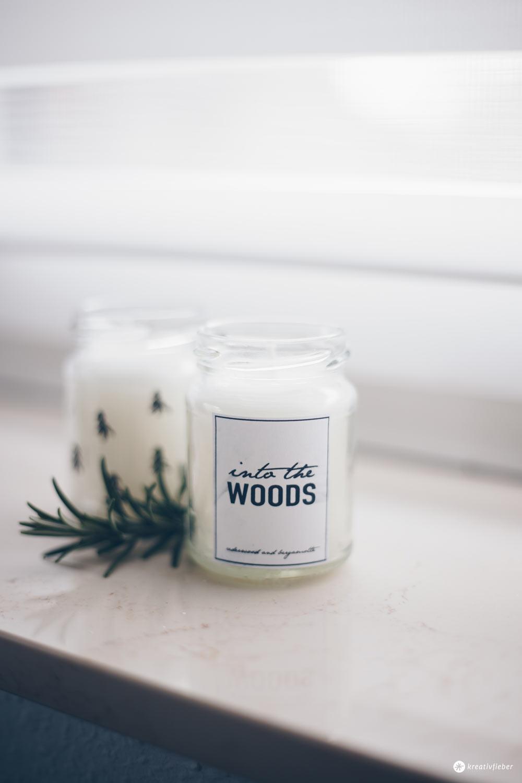 DIY Duftkerze selbermachen - kleine DIY Geschenkidee - natürlicher, waldiger Duft mit Zeder