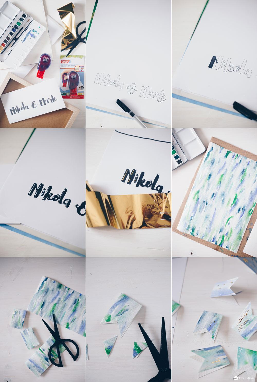 DIY Gästebuchposter zur Hochzeit selbermachen - Vorbereitung - DIY Hochzeitsgeschenk