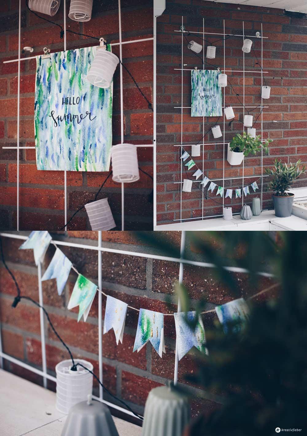 DIY Pflanzengitter Dekoboard für den Garten ohne Bohren aufhängen - Papier wasserabweisend machen für Gartendeko