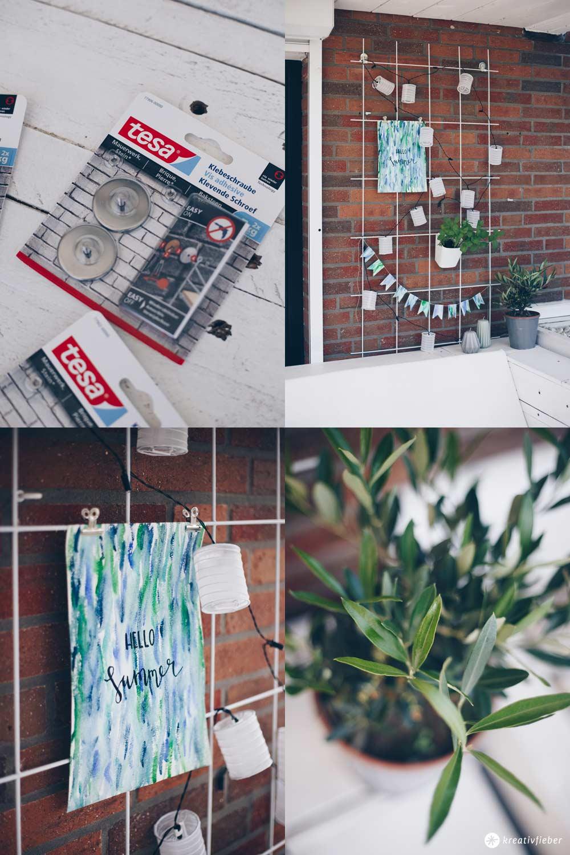 DIY Pflanzengitter Dekoboard für den Garten - wasserfestes Papier DIY - Gartendeko DIY