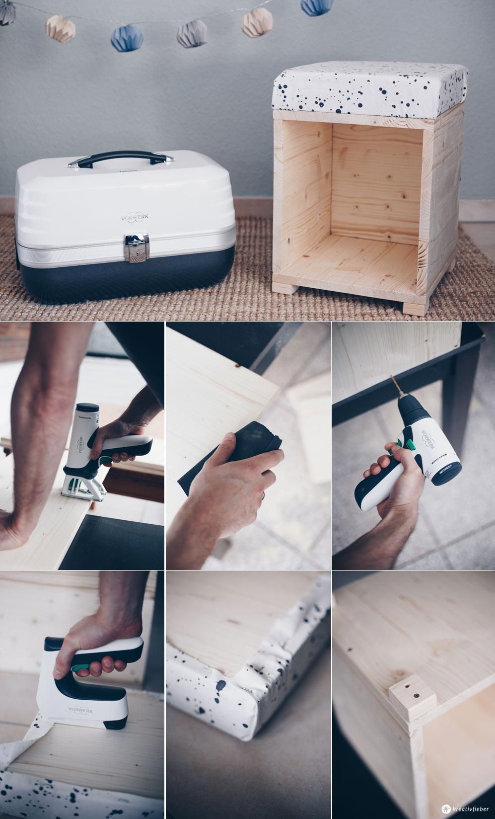 DIY Hocker fürs Kinderzimmer zum Spielen selberbauen - Schritt für Schritt - DIY Möbel selbermachen