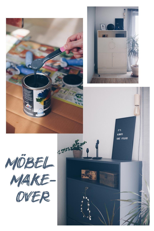 DIY Möbel Make-Over - Möbel schwarz lackieren - Tipps für das Lackieren von Möbeln