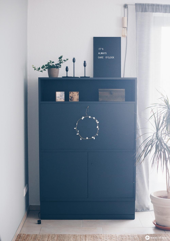 DIY Sektretär Make-Over - Möbel schwarz lackieren - Tipps für das Lackieren von Möbeln Kreativfieber