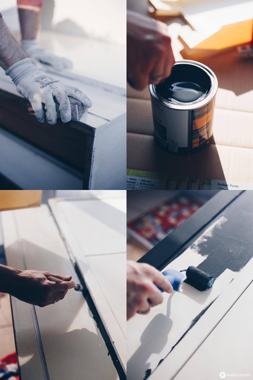DIY Sektretär Make-Over - Möbel schwarz lackieren - Tipps für das Lackieren von Möbeln