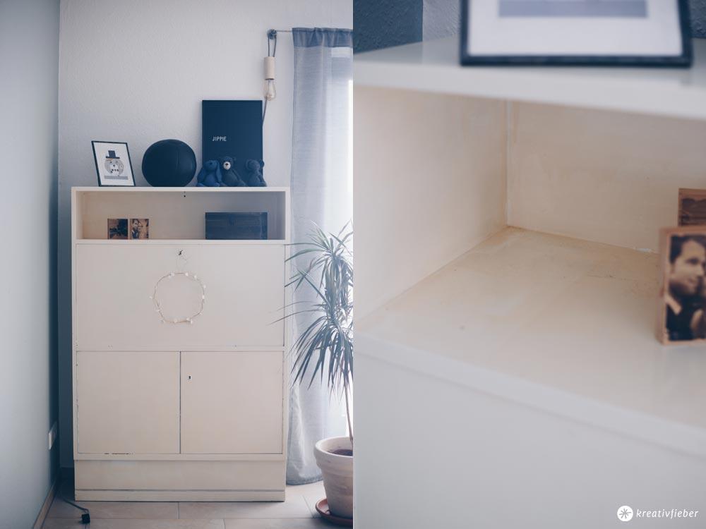 DIY Sektretär Make-Over - Möbel schwarz lackieren - Vorher