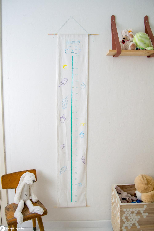DIY Messlatte für Kinder nähen und bemalen