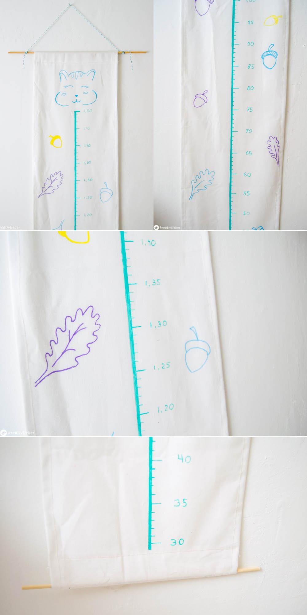 DIY Messlatte Kinderzimmerdeko Selbermachen