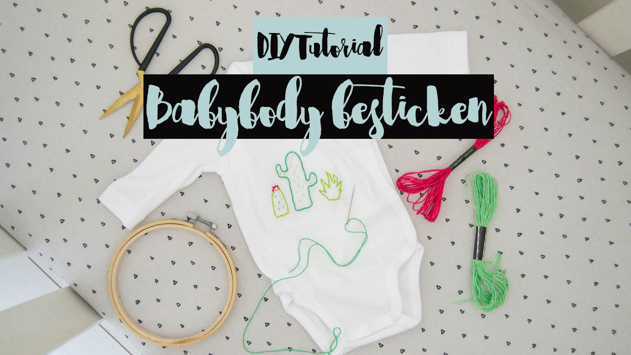 DIY babybody besticken video