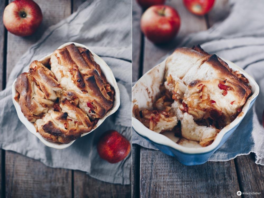 Süßes Apfel-Zimt-Zupfbrot backen - Zupfbrot Rezeptideen - Faltenbrot