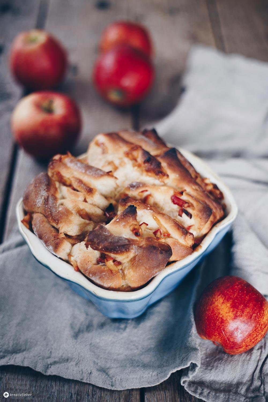 Süßes Apfel-Zimt-Zupfbrot backen - Zupfbrot Rezeptideen - Frühstücksideen und Brunchrezepte
