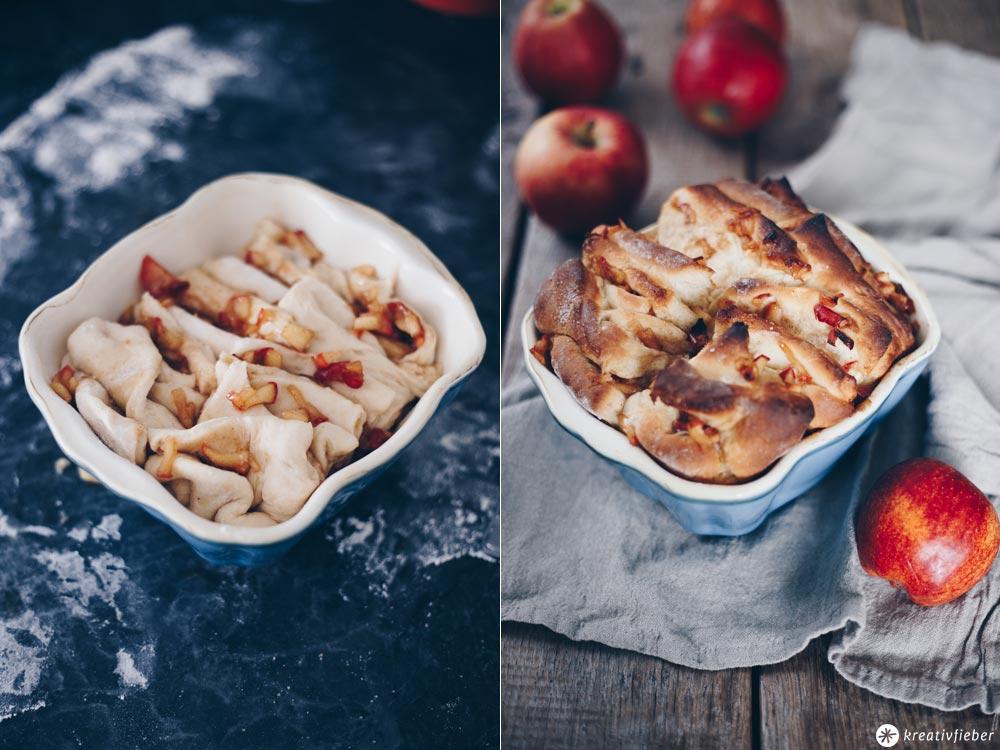 Süßes Apfel-Zimt-Zupfbrot backen - Zupfbrot Rezeptideen