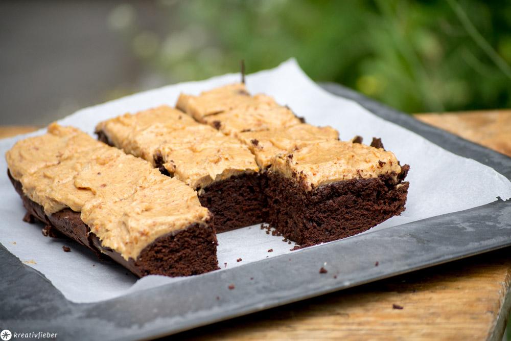 Rezept für Brownies mit Erdnussbutter