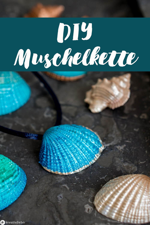 Muschelkette mit Metalliceffekt