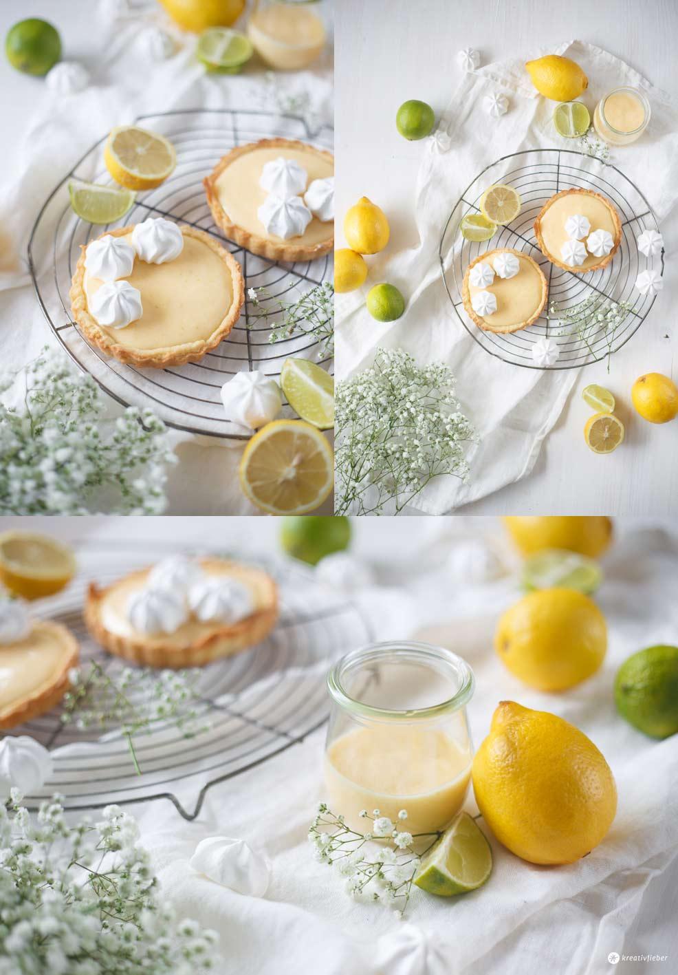 Tartelettes mit Limetten Curd selbermachen - schnelles, sommerliches Gebäck - Rezeptidee mit Zitrusfrüchten