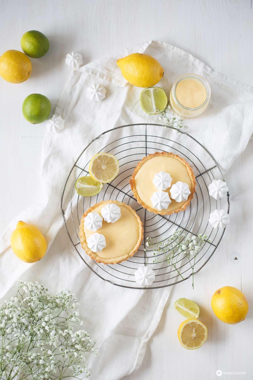 Tartelettes mit Limetten Curd selbermachen - schnelles, sommerliches Gebäck