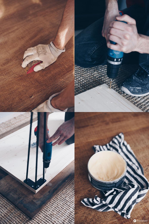 DIY Esstisch mit Hairpin Legs selbermachen - DIY Möbel bauen
