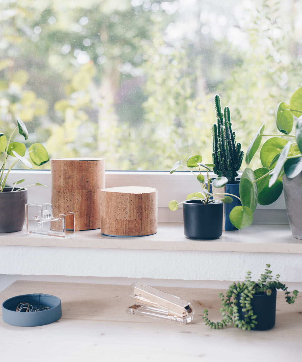 DIY Organizer fürs Büro selbermachen - DIY Ideen mit Kork - Upcycling aus Camenbert Schachteln