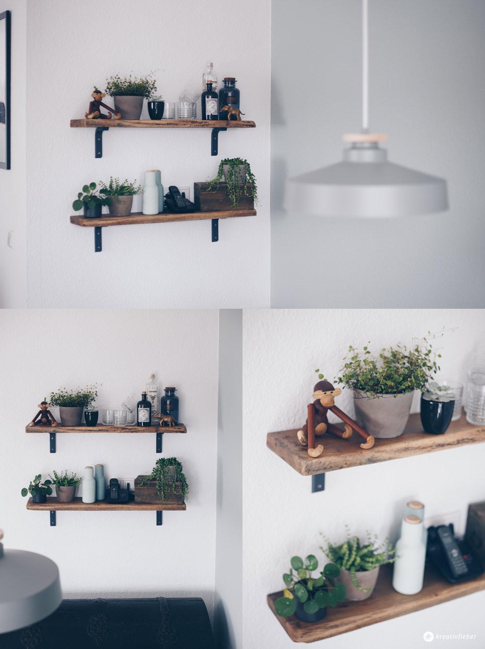 DIY Regal aus alten Holzdielen - altes Holz bearbeiten - Möbel selberbauen - Interior DIY Idee Urban Jungle Greenery