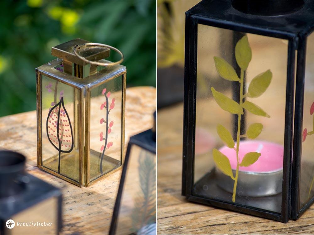 DIY Glas bemalen, Gartendeko
