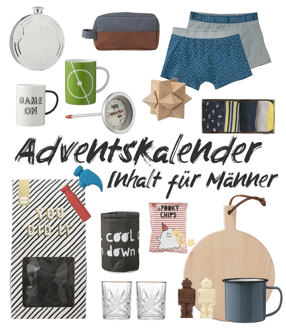 Adventskalender Inhalt für Männer - Adventskalenderideen für Männer