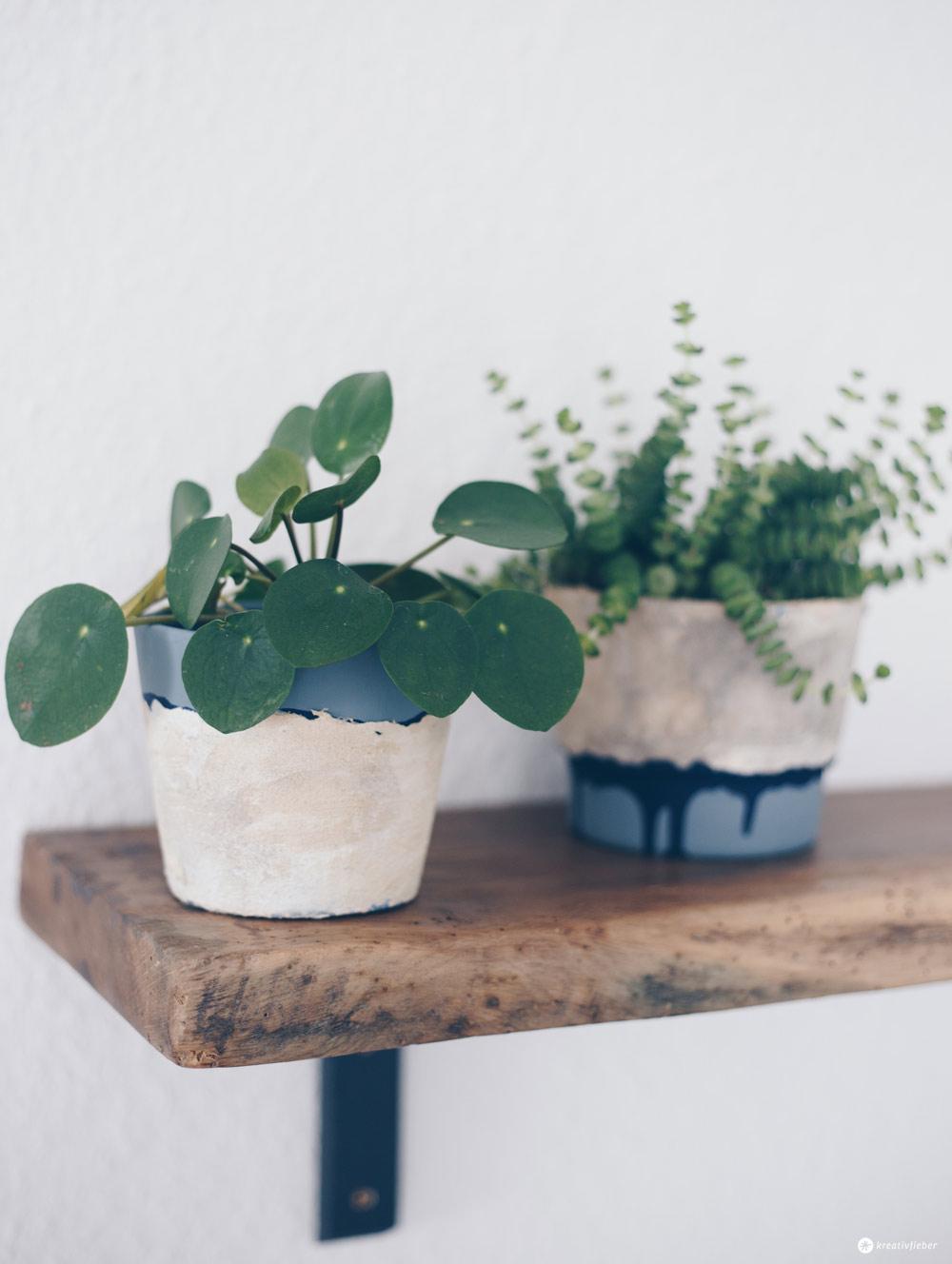 DIY Blumentöpfe mit Steinoptik selbermachen - Upcycling Ideen - DIY Tutorial - DIY Deko