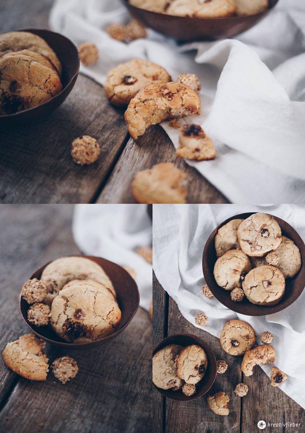 Giotto-Nuss-Kekse backen - Cookies Rezeptidee - außen knackig, innen chewy - Backideen mit Giotto