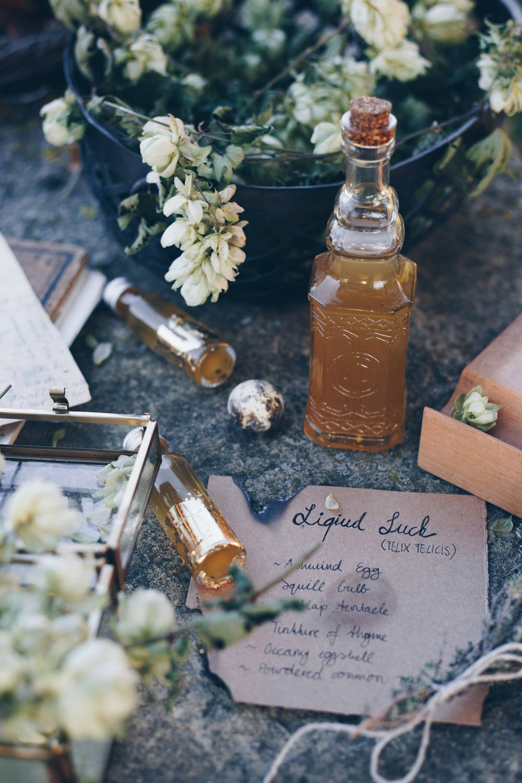 Liquid Luck Potion selbermachen - Felix Felicis - Harry Potter DIY - Geschenke aus der Küche - Honiglikör Rezept
