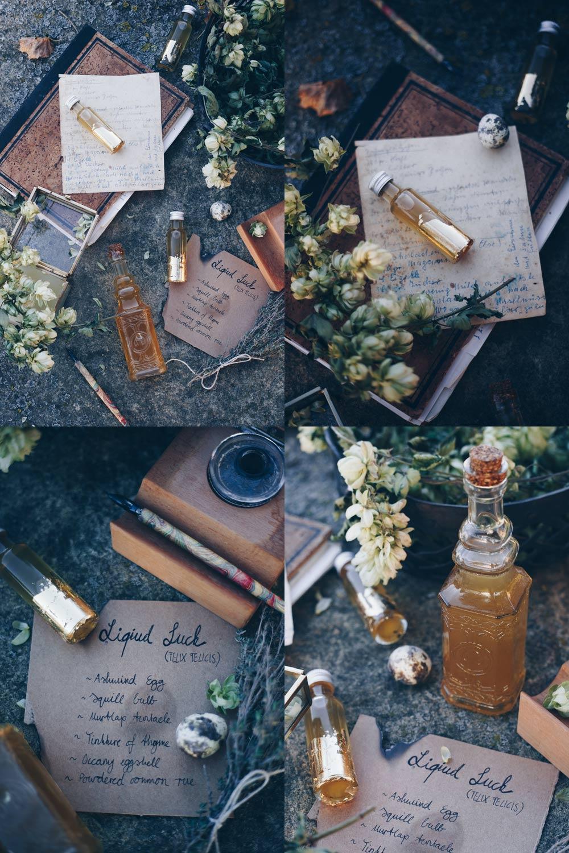 Liquid Luck Potion selbermachen - Felix Felicis - Harry Potter Party DIY - Honiglikör - Weihnachtsgeschenke aus der Küche