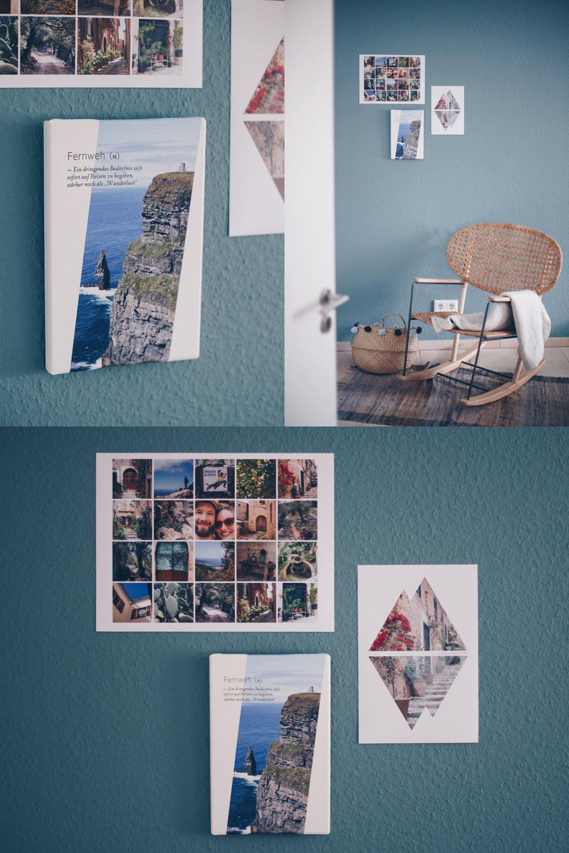 Urlaubserinnerungen mit Wandbildern festhalten - mit Designelementen