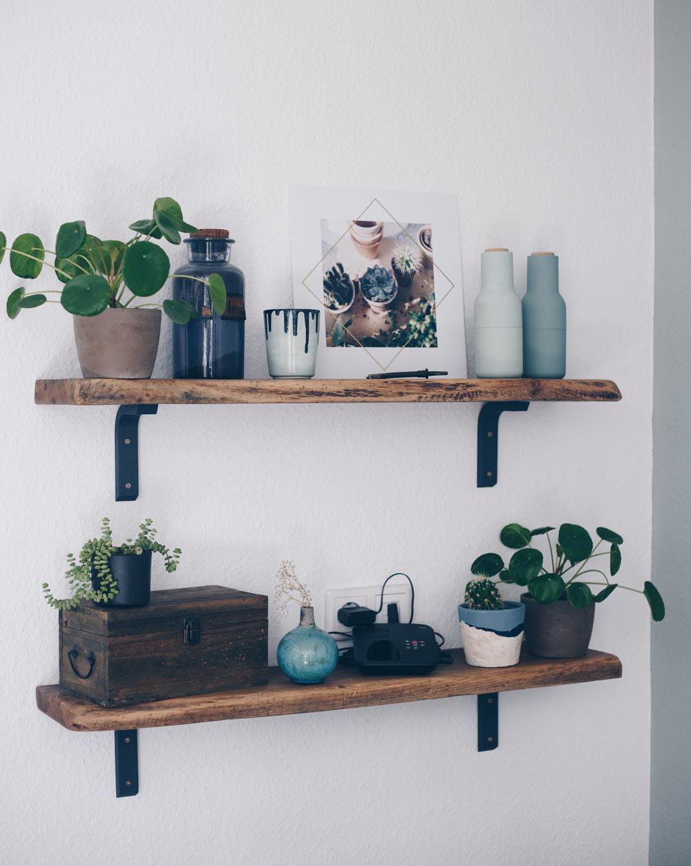 Zuhause wird es wohnlich - Wandbilder als Deko Objekt nutzen - Pflanzen Prints mit Gold