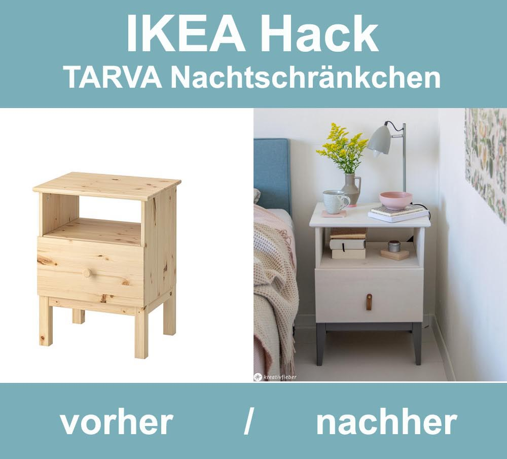 ikea hack tarva nachtschr nkchen. Black Bedroom Furniture Sets. Home Design Ideas