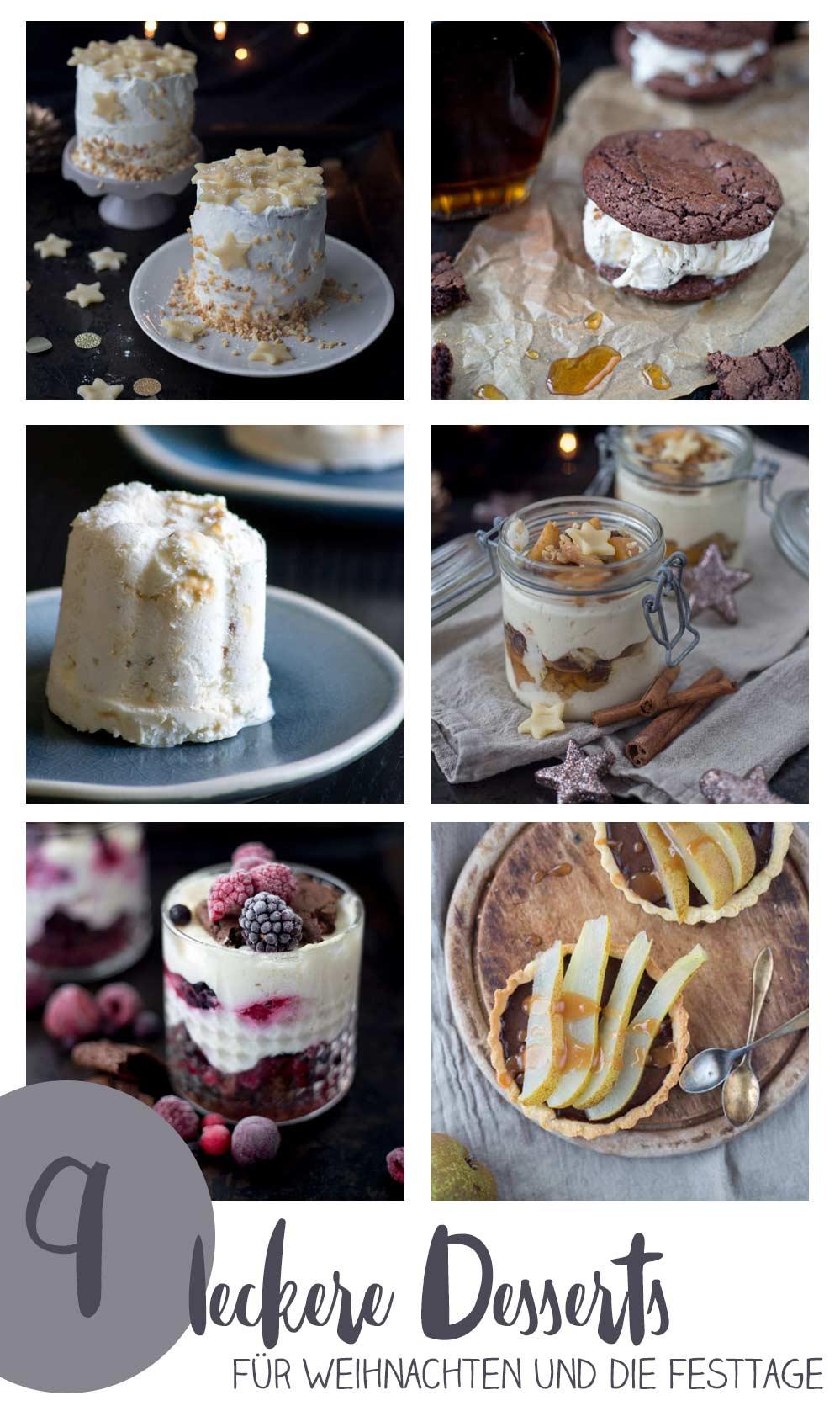 9 leckere Desserts für Weihnachten und die Festtage - Rezeptideen für festlichen Nachtisch