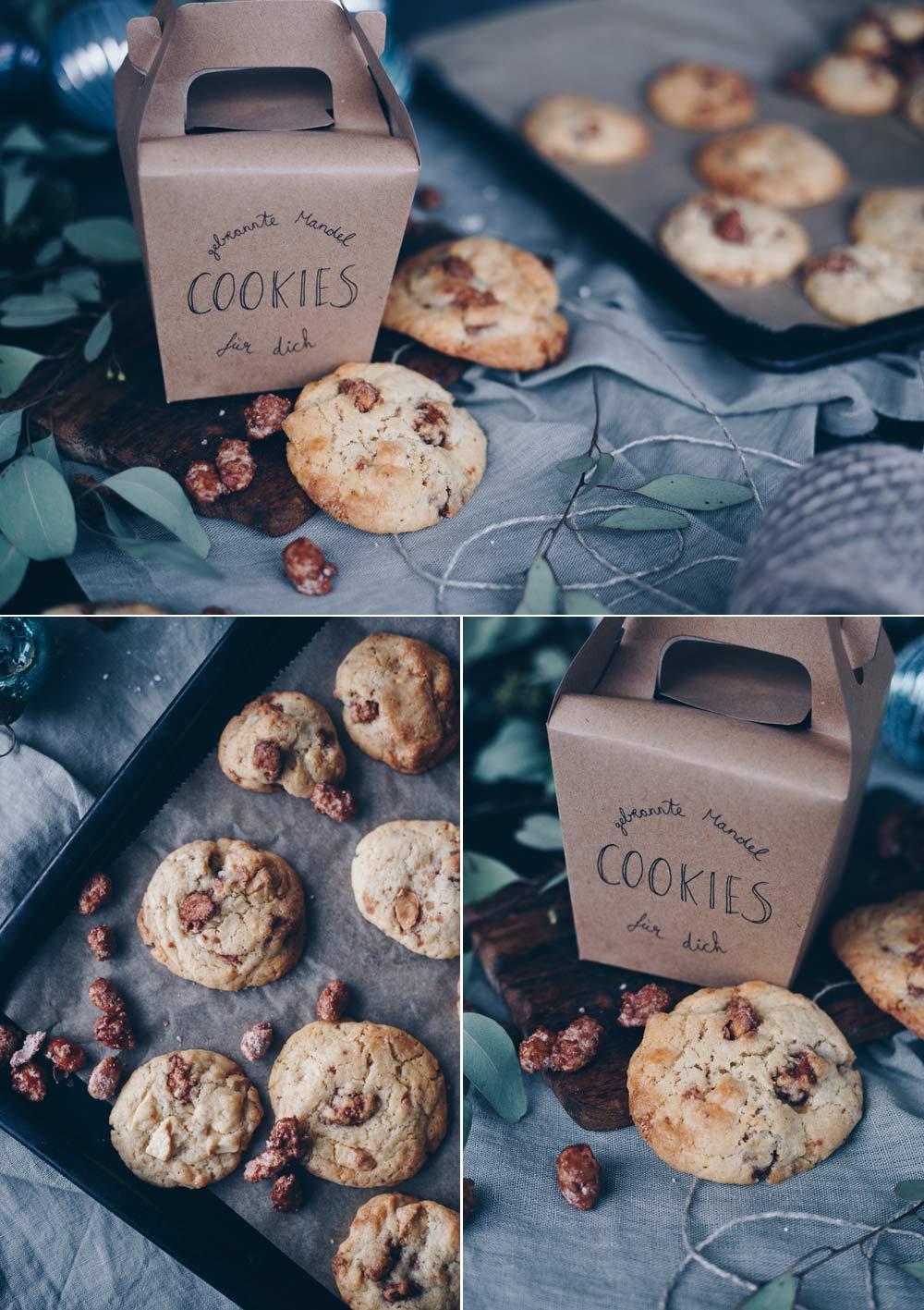 Cookies mit gebrannten Mandeln - Weihnachtsbäckerei - DIY Weihnachtsgeschenke aus der Küche