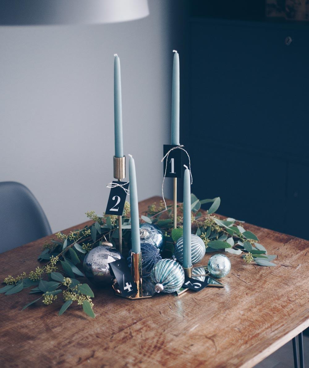 DIY Adventskranz im Scandi Look mit Eukalyptus und Gold