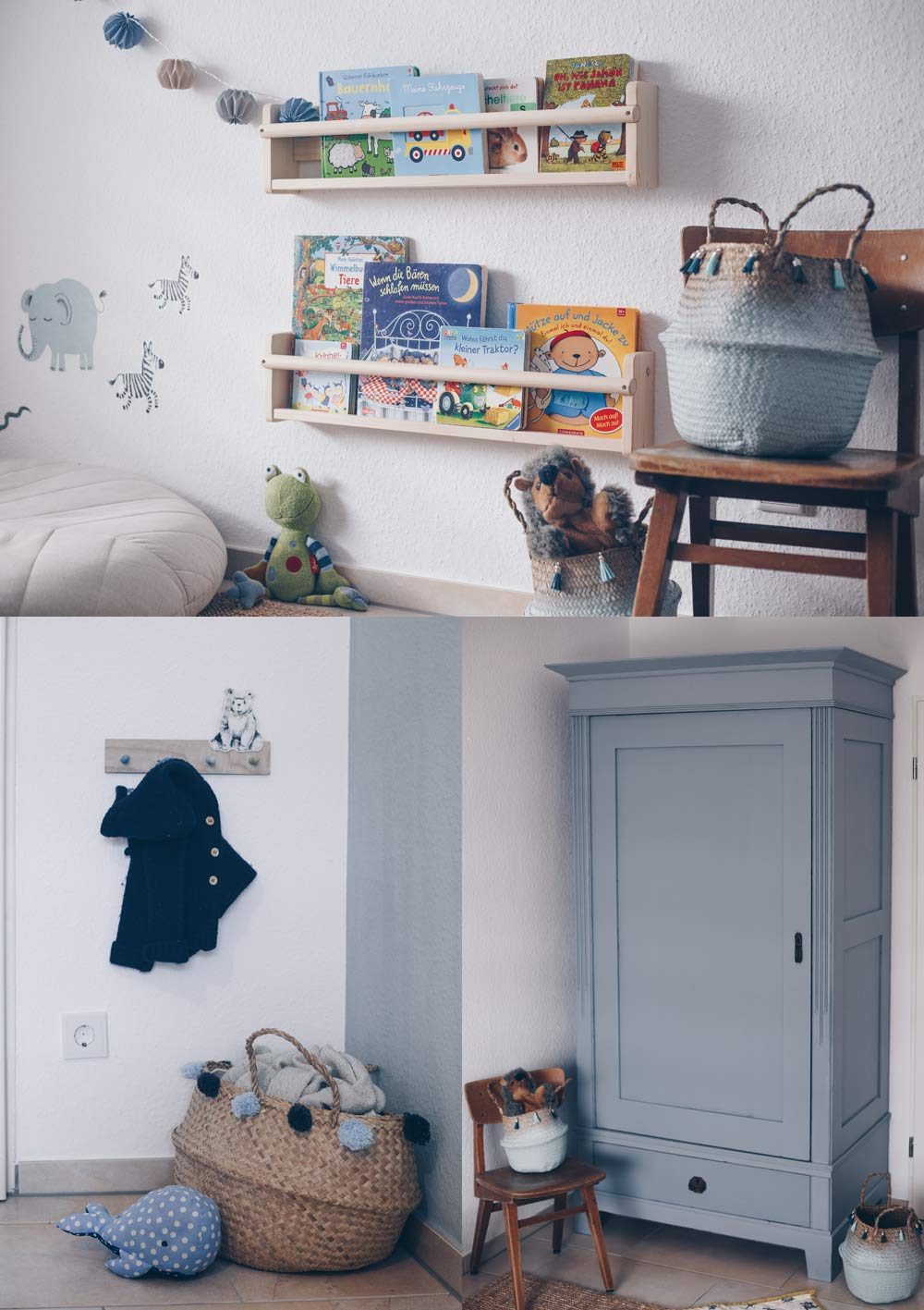 DIY Kinderzimmerschrank Upcycling und Sneak Peek ins Kinderzimmer - Schrank lackieren und eine Geschenkidee zur Geburt