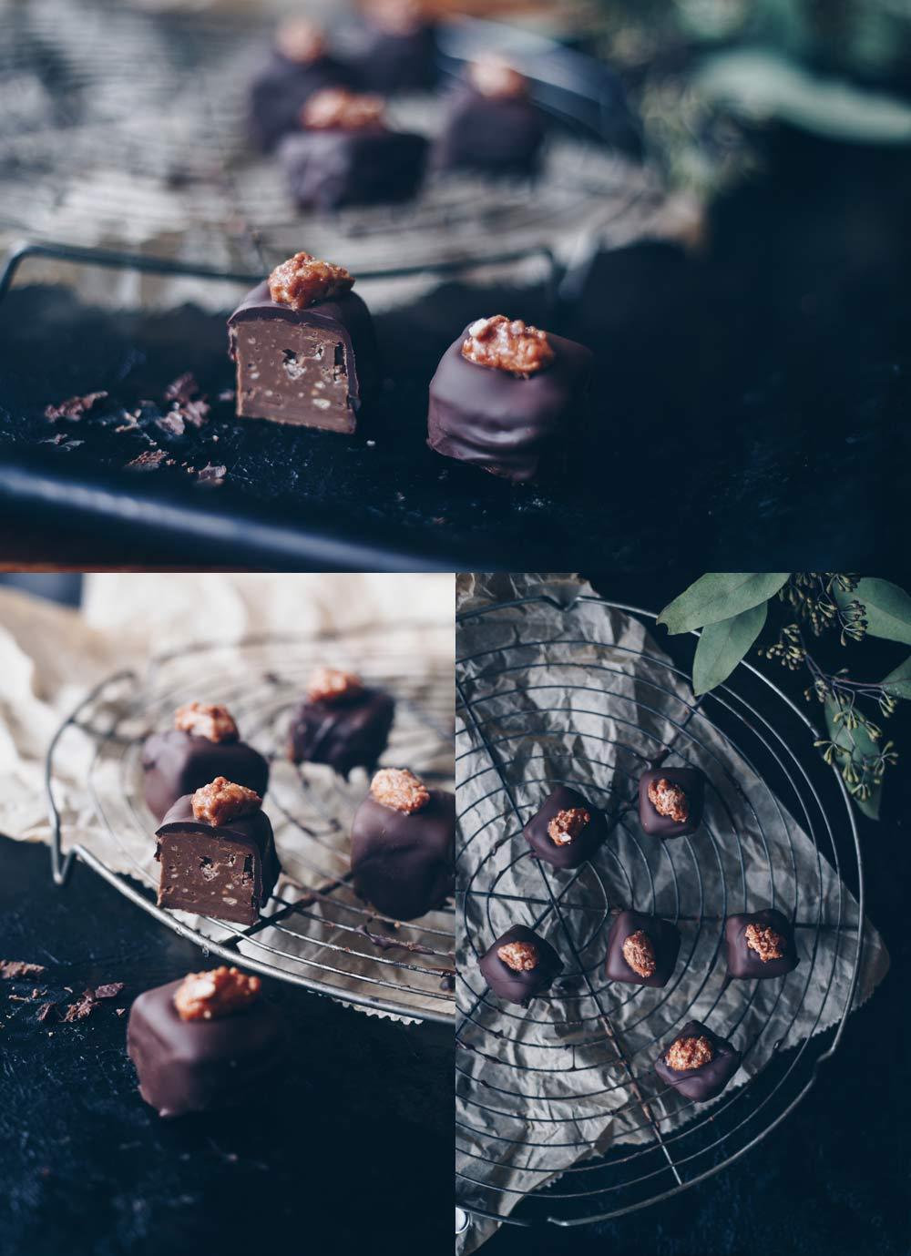 Geschenke aus der Küche - Nougatpralinen mit gebrannten Mandeln