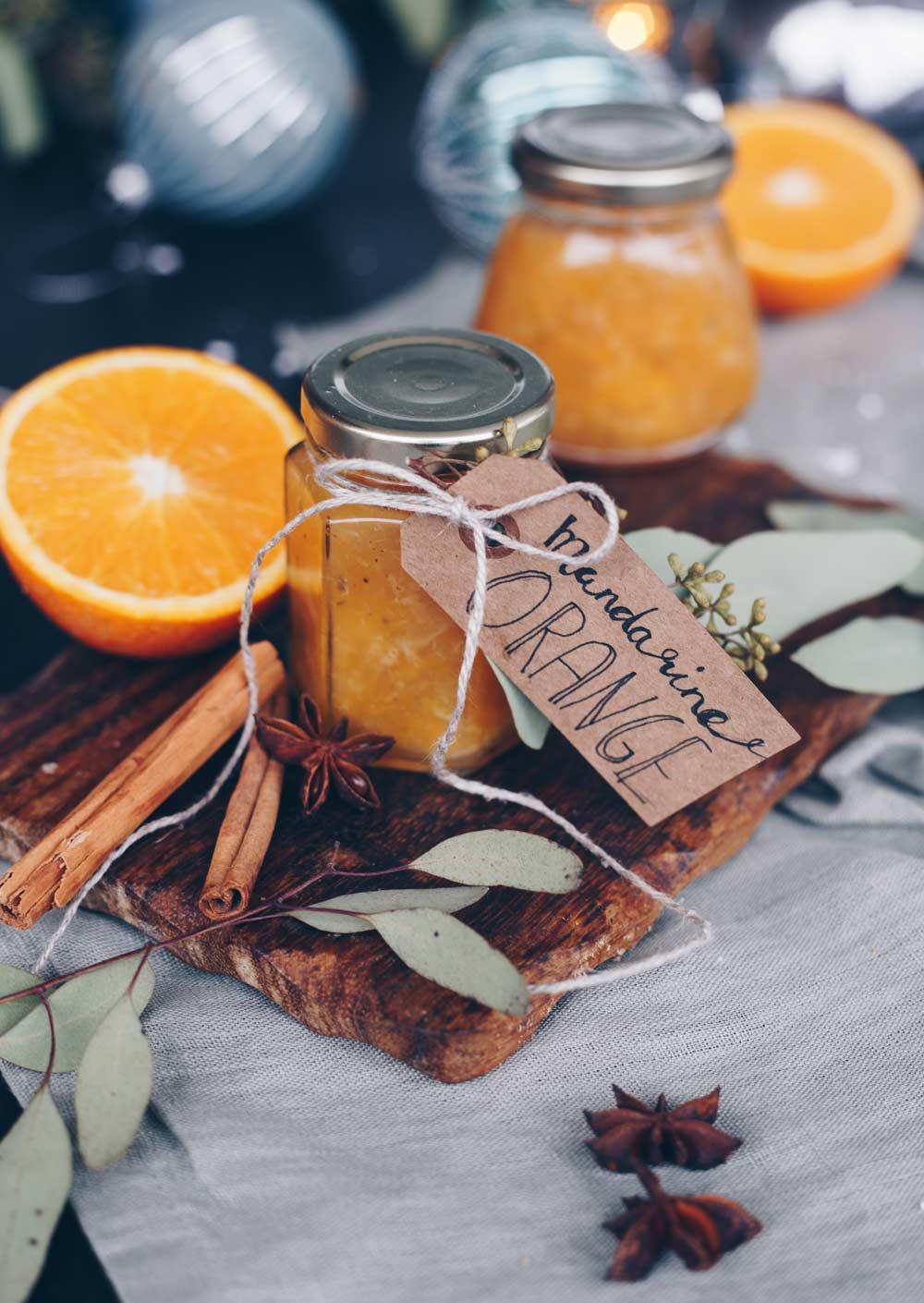 Mandarinen-Orangen-Marmelade mit weihnachtlichen Gewürzen und Amaretto - Geschenke aus der Küche selbermachen