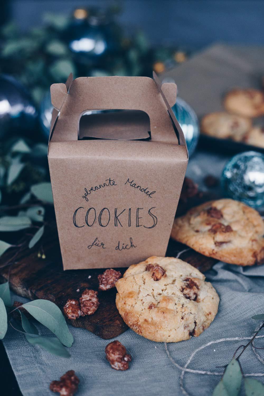 gebrannte Mandel Cookies selbermachen - DIY Geschenke aus der Küche - kleines Mitbringsel