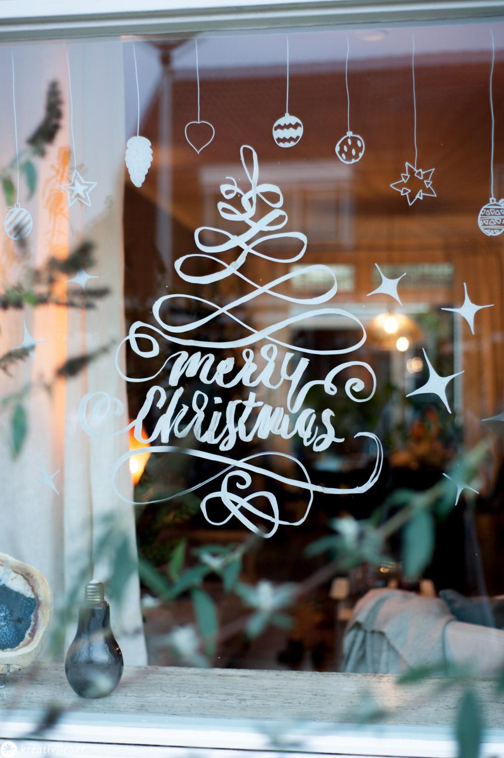 Fensterbilder malen mit chalk Markern