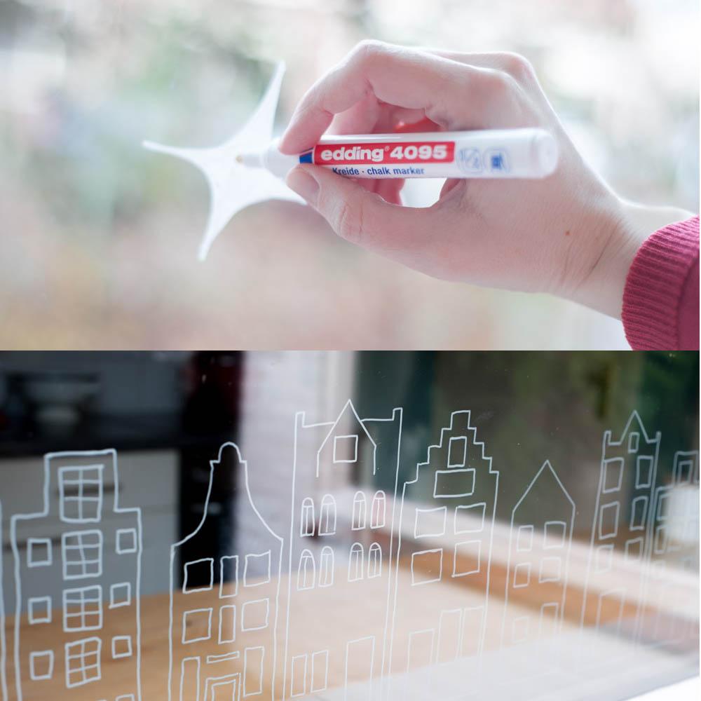 DIY Fensterbilder mit Kreidemarkern Anleitung