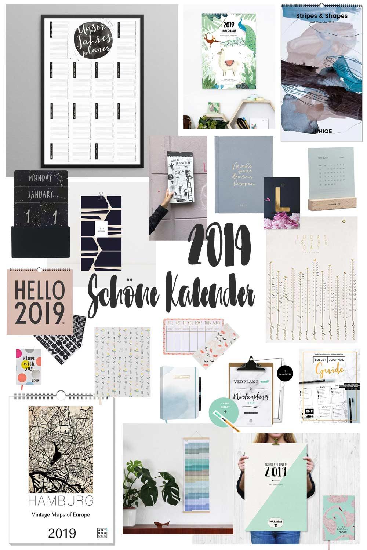 Schöne Kalender für 2019 - Weihnachtsgeschenkidee Kalender
