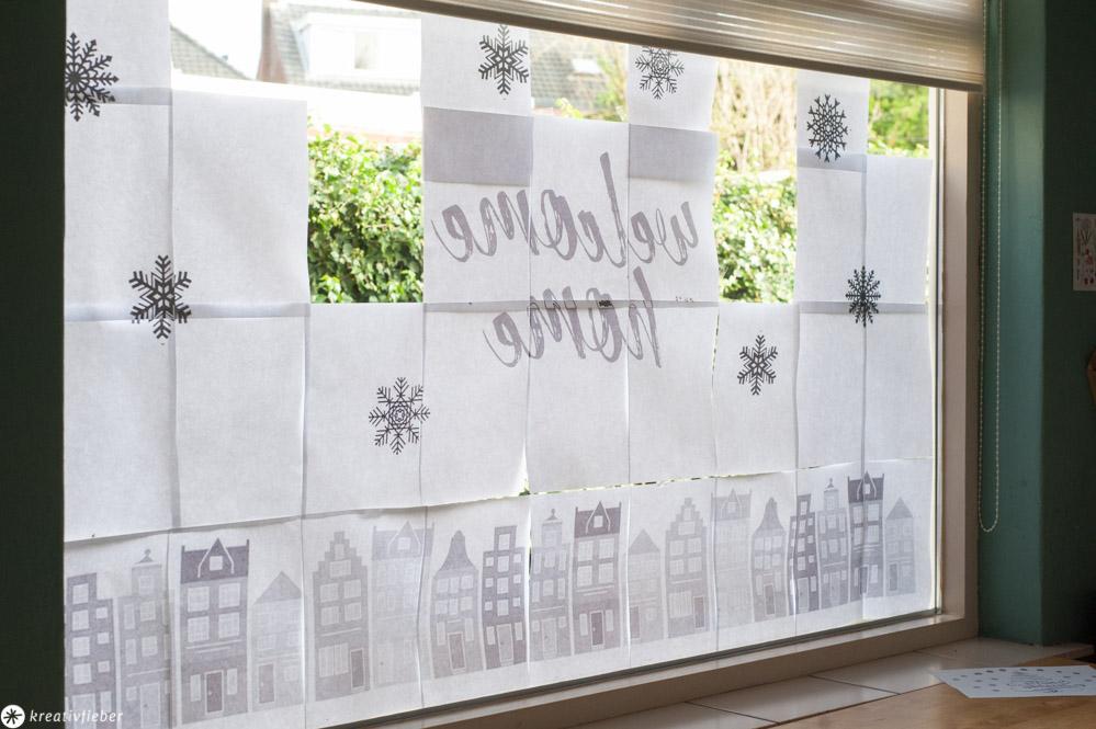 Fensterkunst Vorlagen Selbermachen