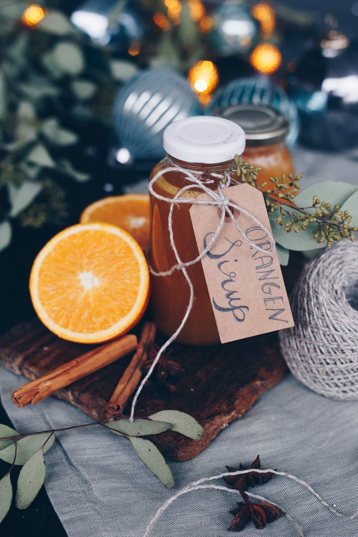 weihnachtlichen Orangensirup selbermachen - DIY Geschenke aus der Küche