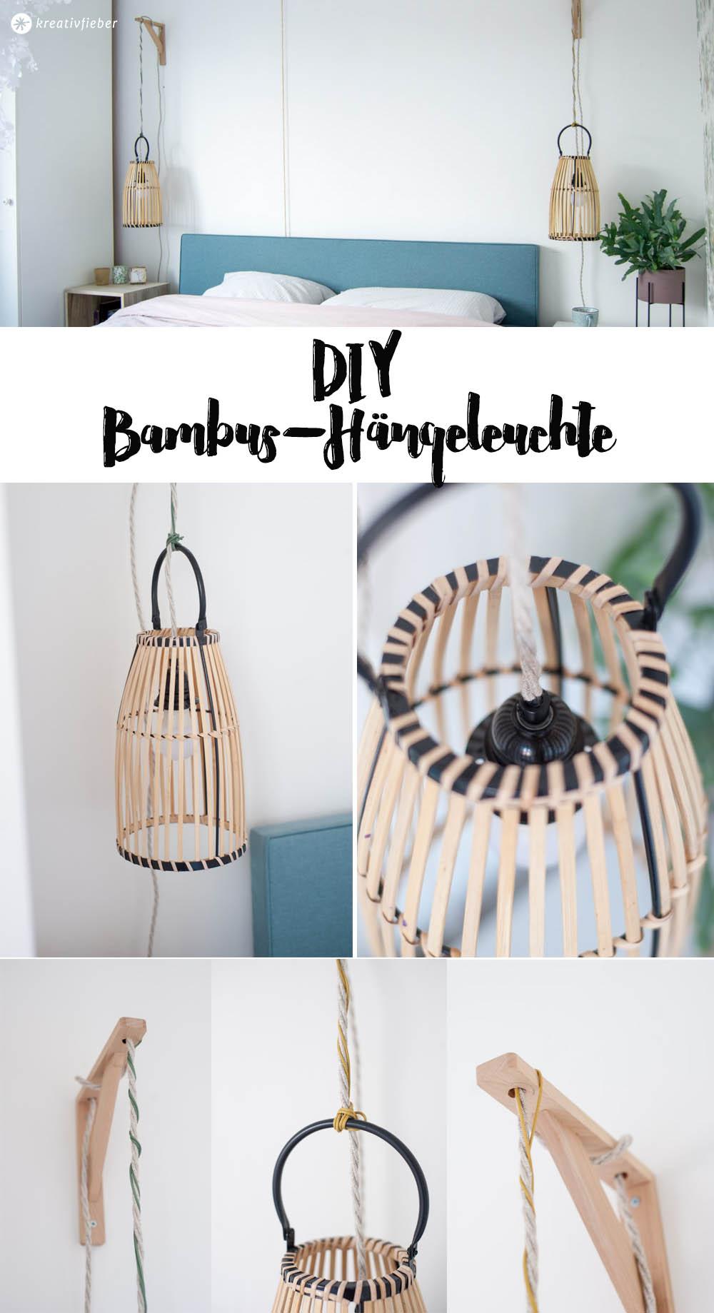 DIY Upcycling Hängeleuchten aus Bambuslaternen