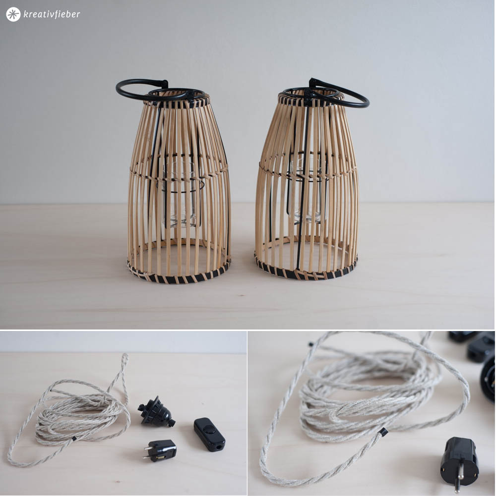 DIY Upcycling Lampen aus Laternen
